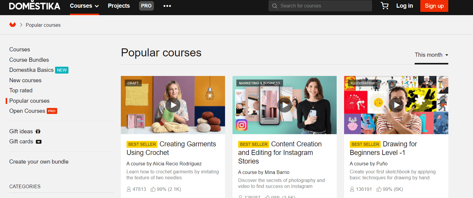 popular courses on Domestika
