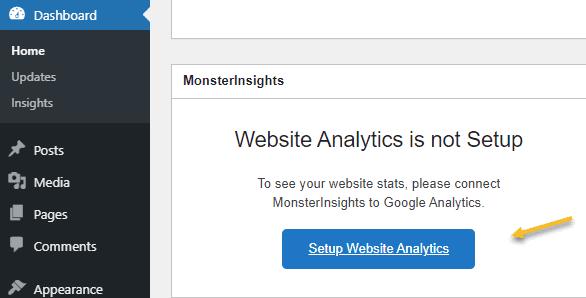 Set up website analytics