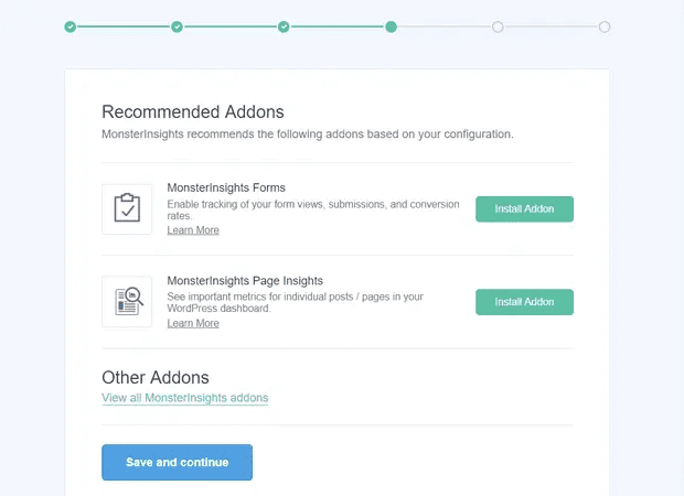Recommended add-ons