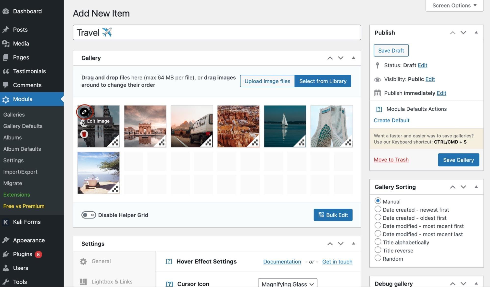 More WordPress gallery customizations