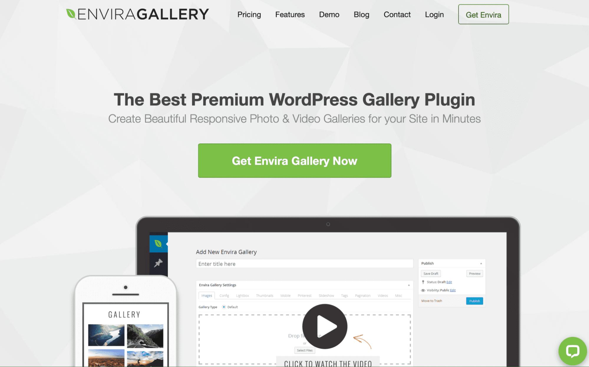 Envira WordPress gallery plugin