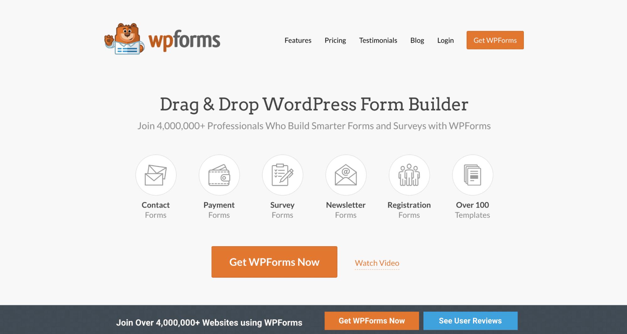 WPforms  - WordPress plugin for polls