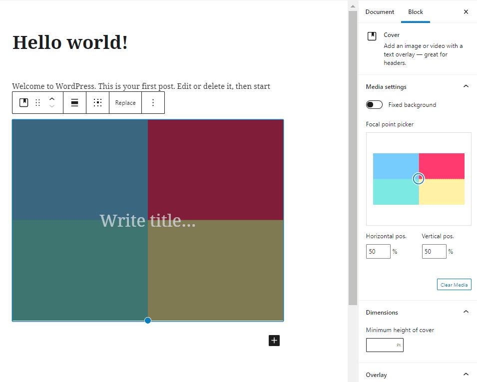 Edit your WordPress image ackground