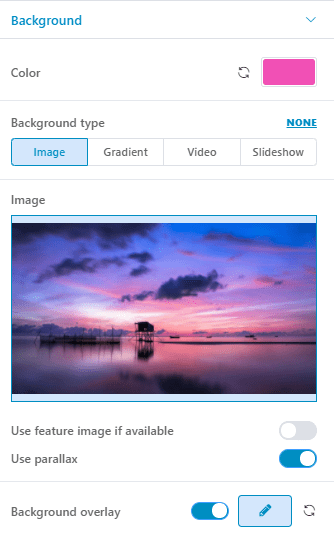 Select your desired image for the background