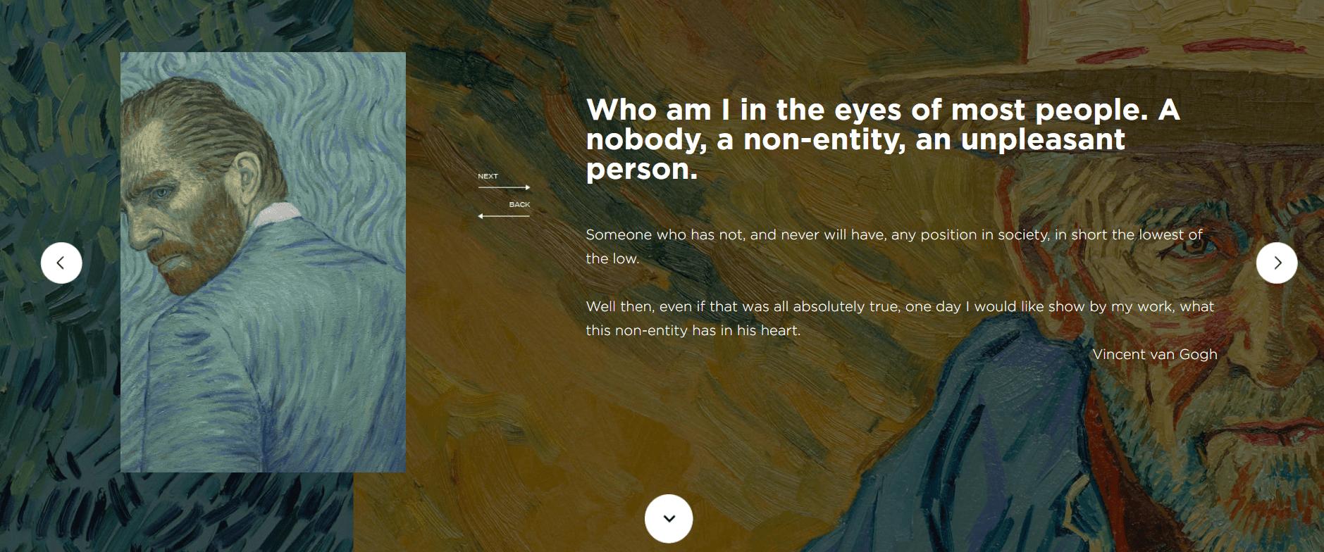 Loving Vincent website background image
