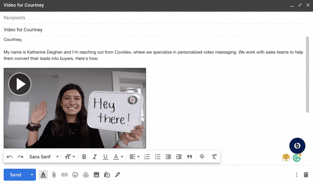 email video content
