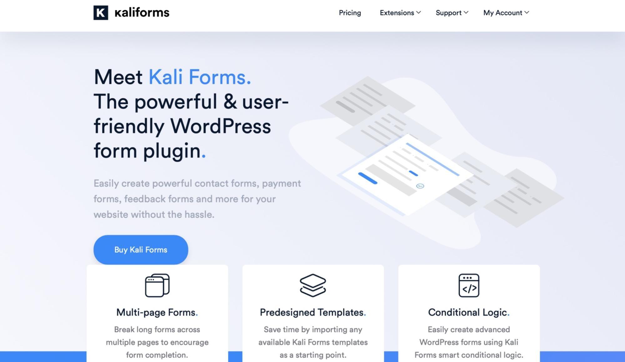 Kali - WordPress forms