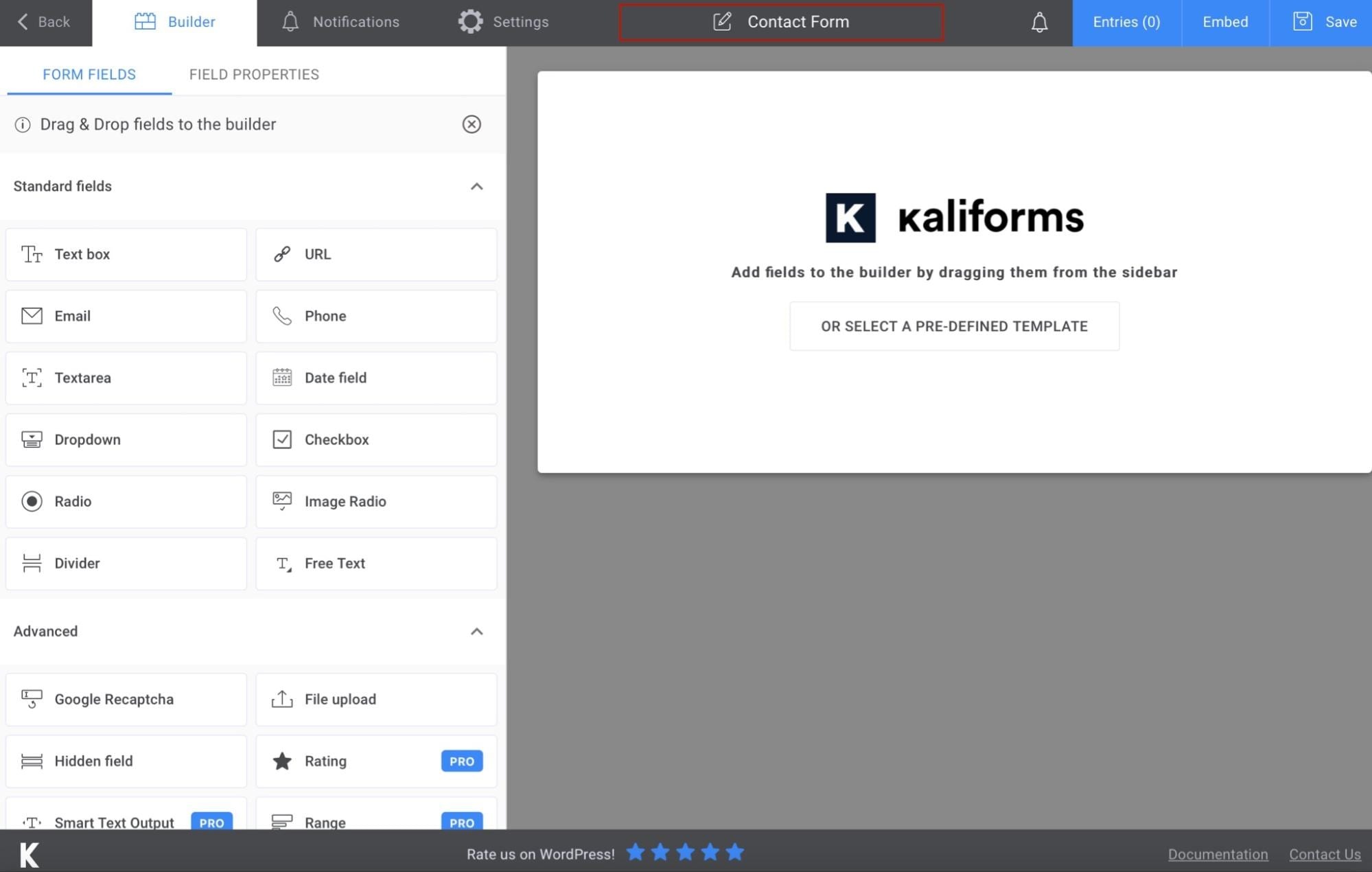 Add new WordPress contact form