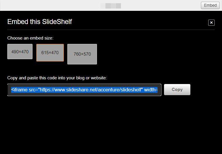 embed SlideShare presentation to WordPress