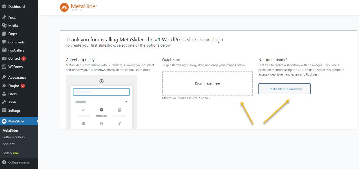 Creating a WordPress Carousel using MetaSlider