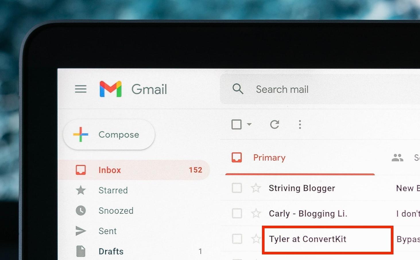 show the newsletter sender name