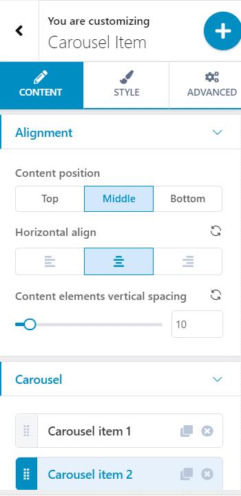 Advanced WordPress carousel editing