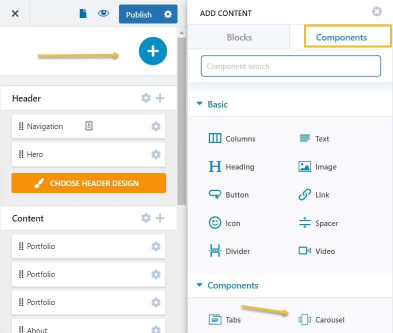 Adding the carousel component