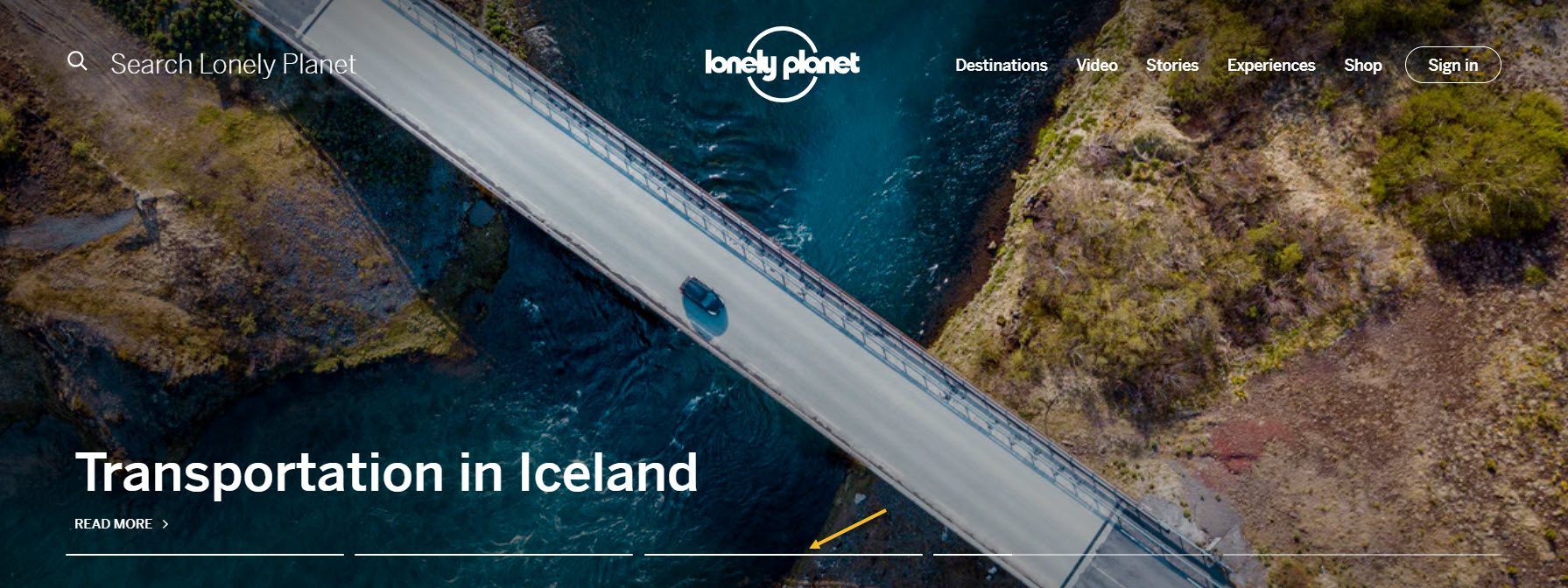 Lonely Planet slider example