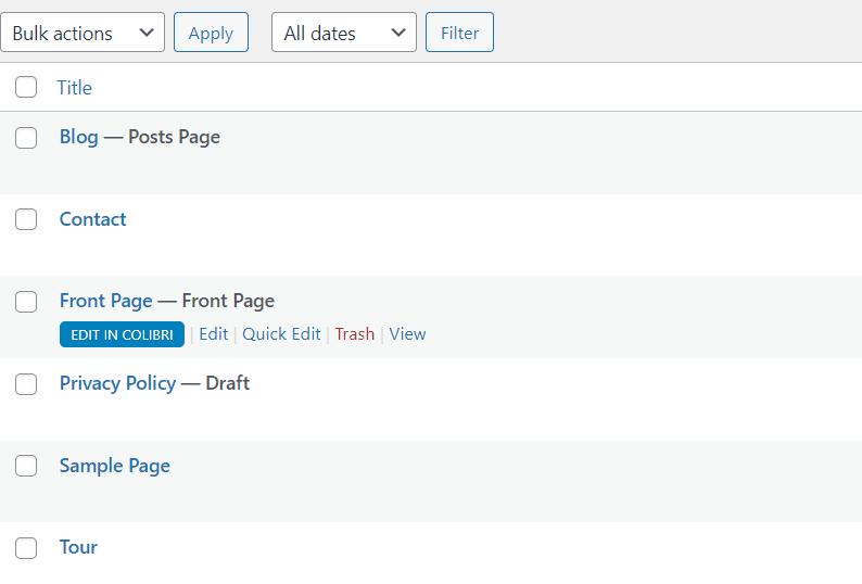 Edit a WordPress page